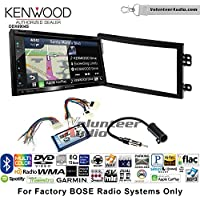 Volunteer Audio Kenwood Excelon DNX694S Double Din Radio Install Kit with GPS Navigation System Android Auto Apple CarPlay Fits 2003-2005 Nissan 350Z (With Bose)