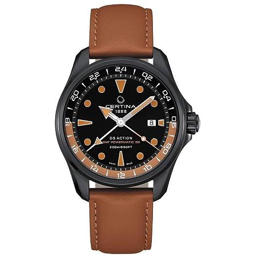 Certina DS Action Reloj de Hombre automático 43.1mm de Cuero C032.429.36.051.00: Amazon.es: Relojes