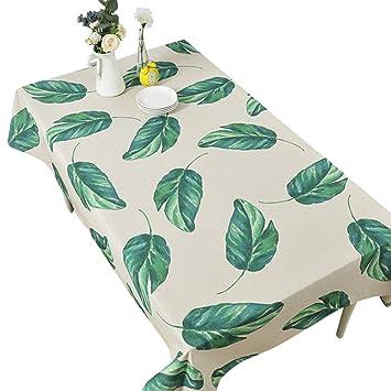 Nappe Végétale Verte Leaves Nappe Photo Coton Et Lin Salon De Jardin ...