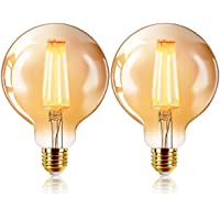 Bombilla retro vintage,Extrastar Bombillas Globo de Filamento LED E27 4W(AG125…