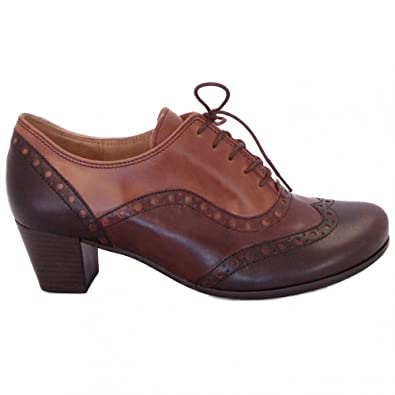 a8d873a1ec Gabor Denver lace-up high cut shoes in triple tone brown MORO 5 ...
