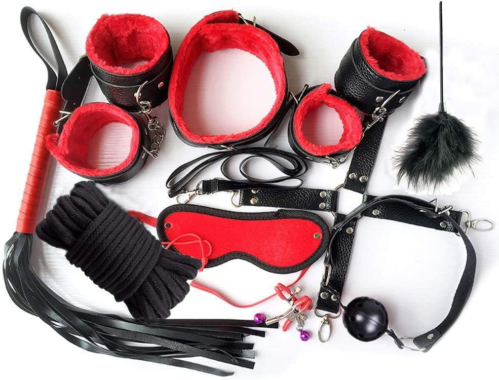 Mokeua Exercise Bands Sport Kits Adjustable Set of 10PCS,Black+Purple