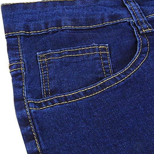 Skinny Dunkelblau Effetto Jeans Con Invecchiato Pantaloni Casual Vestibilità Uomo Classiche Ragazzi Da Regolare Vintage Eleganti CnPqT