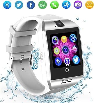 Reloj inteligente Bluetooth con cámara, pantalla táctil, reloj ...