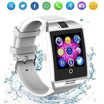 Reloj inteligente Bluetooth con cámara, pantalla táctil, reloj inteligente con ranura para tarjeta SIM/TF, reloj inteligente deportivo, rastreador de ...