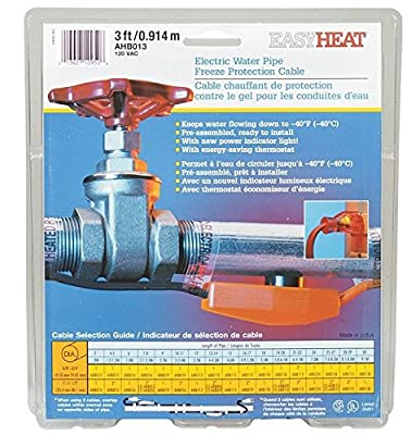 (Ship from USA) Easy Heat Water Pipe Heating Cable 3 ' 120 V 7 W/' /ITEM NO#8Y-IFW81854204405