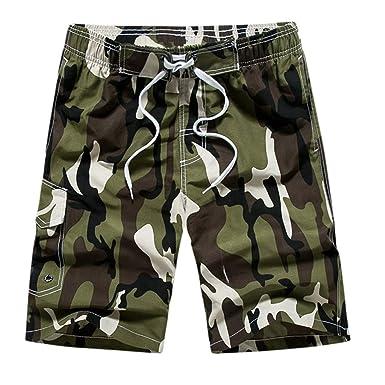 1b8fe5d756c759 Amphia - Schnell trocknende Surf-Strandhose für Herren mit Camouflage-Print  - Männer Casual