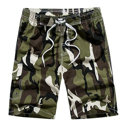 YOcheerful Men Beach Trunks Mens Camouflage Beach Trunks ...