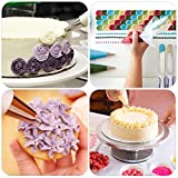 Kootek All-In-One Cake Decorating Kit Supplies with Revolving Cake Turntable, 50 Disposable Pastry Bags, 12 Cake Decorating Tips, 2 Icing Spatula, 3 Icing Smoother and 1 Coupler Baking