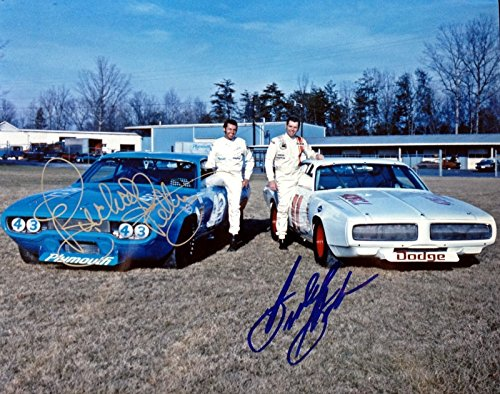 BUDDY BAKER and RICHARD PETTY - Reprint 8x10 inch Photograph - Nascar Driver Racing