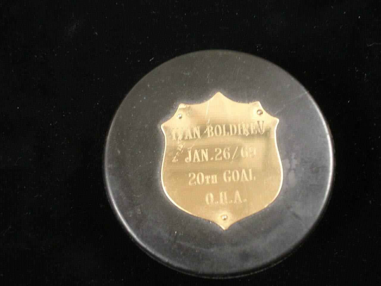 Jan 26, 1969 Oshawa Generals Game Used Hockey Puck 20th Goal
