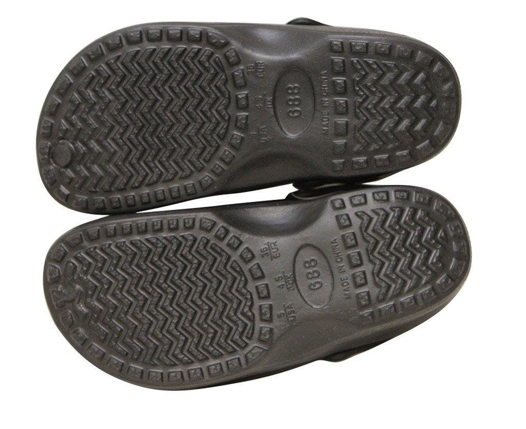 Refresh 668Flower Women's Rubber Water Aqua Beach Sport Casual Sandals Slippers Clogs Black 6