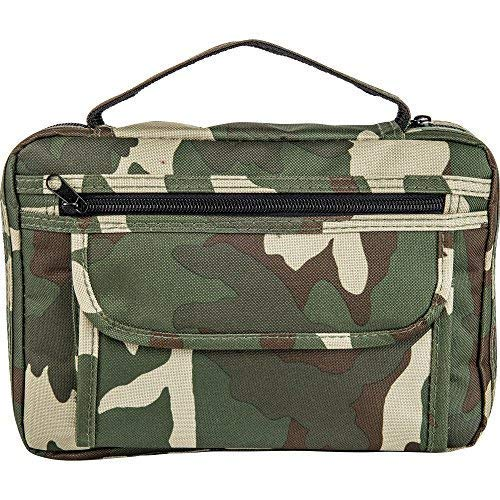Embassy Bible Cover With Extra Zippered Compartments, To Protect The Good Book, Camouflage