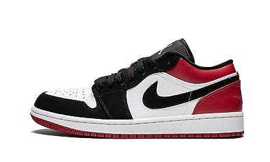 751380c08c25c Amazon.com | Jordan Air 1 Low (White/Black-Gym Red, 12) | Basketball