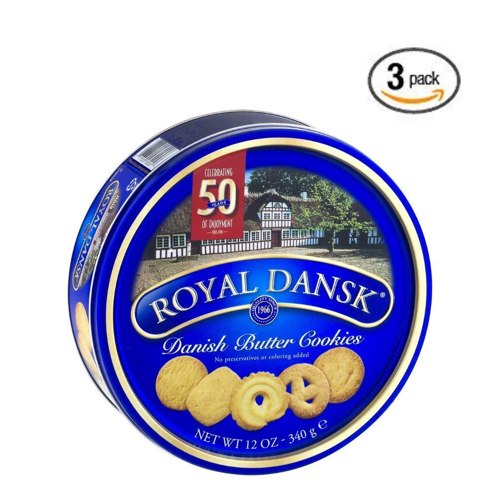 Royal Dansk Cookies, Danish Butter, 12 Oz - 3 pack