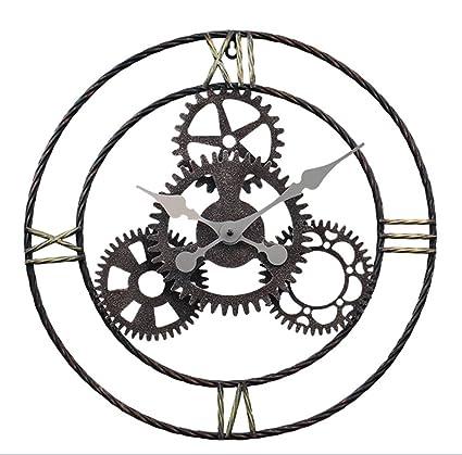 Wall Clocks Clocks Imoerjia American Retro Industrial Air Digital Gear Wall Clock Lounge Bar Cafe Furnishings Clocks