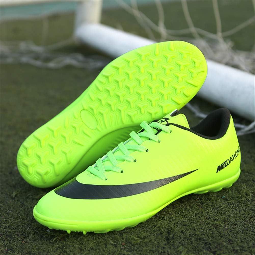 Chaussures de Football TF Homme Unsisexe Spike Professionnel Chaussures de Foot en Plein Air Chaussures DEntra/înement pour Adolescents Basse