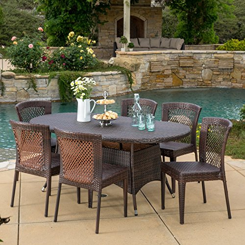 Best Selling Home Brando 7 Piece Wicker Patio Dining Set -  Christopher Knight Home, 295826