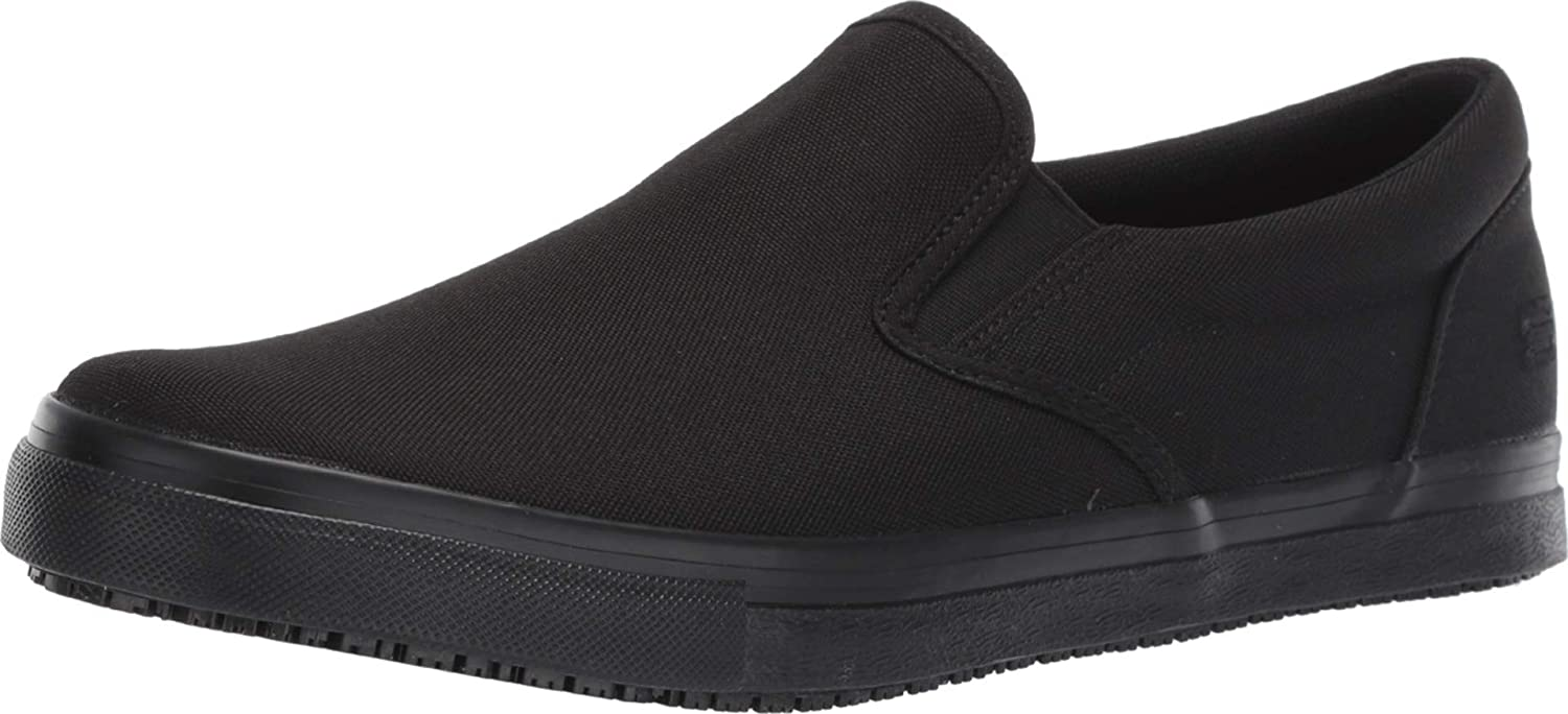 Skechers Men's Work Relaxed Fit: Sudler-Dedham Sr Slip on Sneaker Food Service Shoe