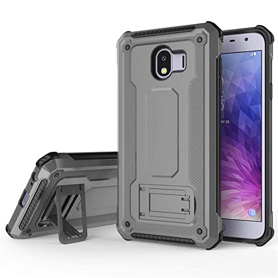 QLOA Multifunctional case for Samsung Galaxy J4 2018 case, Hard PC Soft  Bumper Horizontal Stand Protective Cover for Galaxy J4 2018 (2018