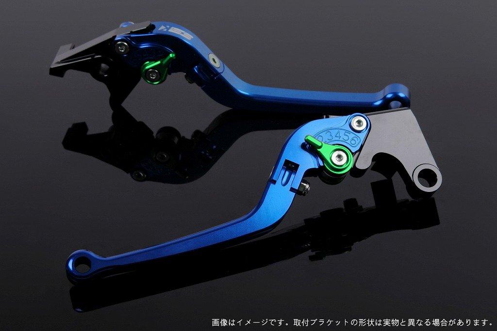 SSK アジャストレバー スタンダード可倒式 レバー本体カラー:ブルー アジャスターカラー:グリーン NMAX LVAG032BE-GN B07MX8LYB8