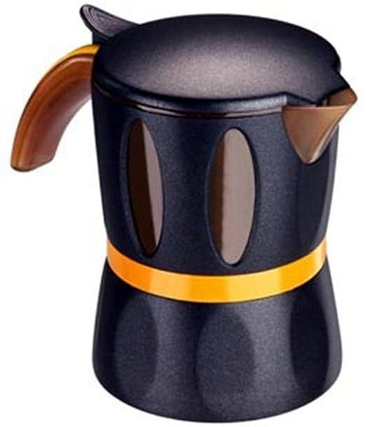 Mamy Cafetera negra 2/4 tazas para microondas (policarbonato CD ...