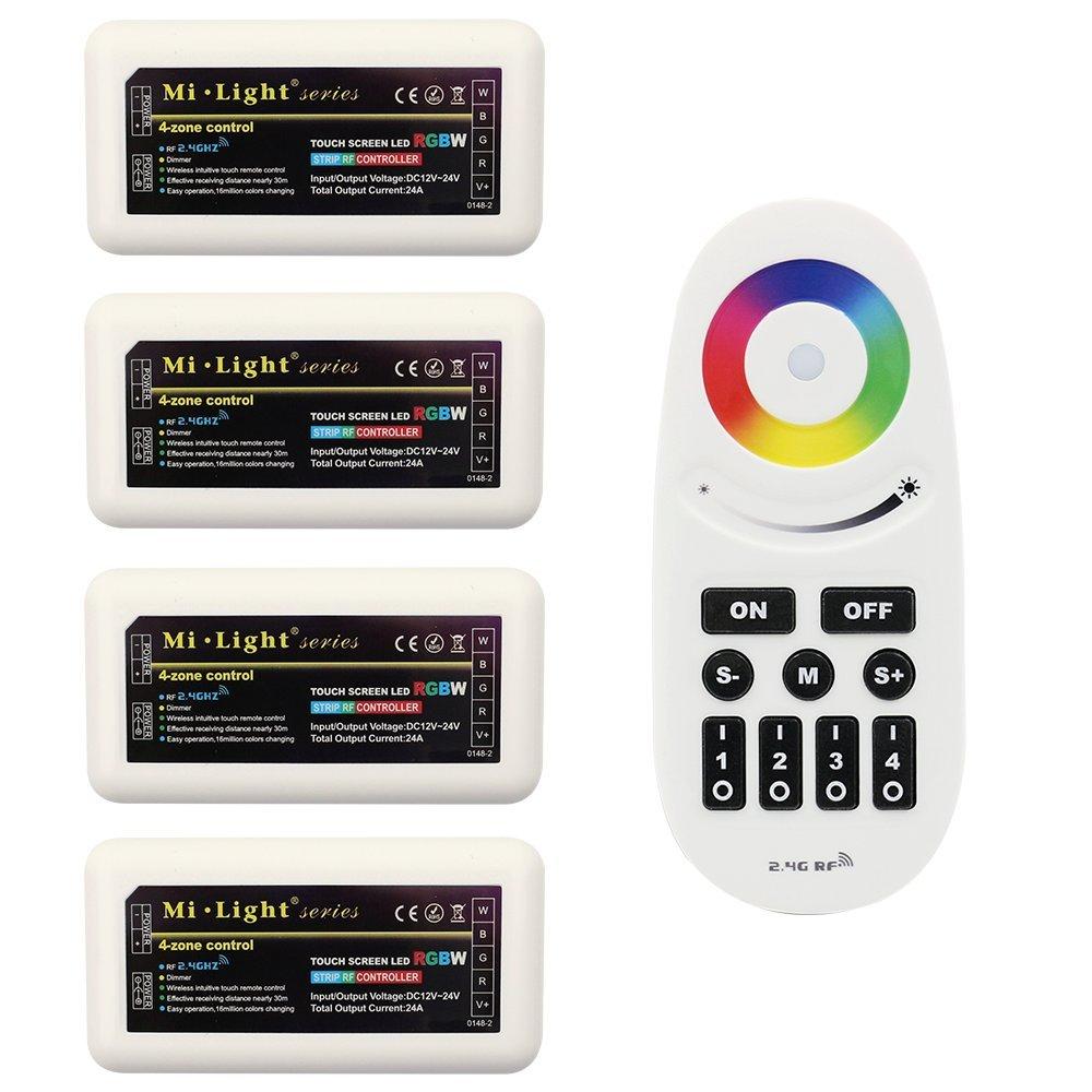 Amazon.com: Wireless 2.4G RF RGB + White/Warm White Controller Kit ...