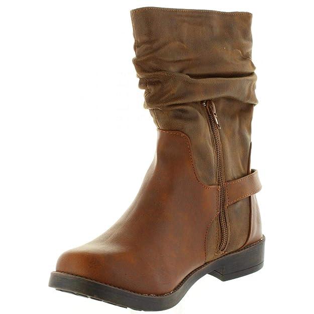 20574a2a MTNG 55535 Bota Media CAÑA Mujer Cuero 40: Amazon.es: Zapatos y complementos