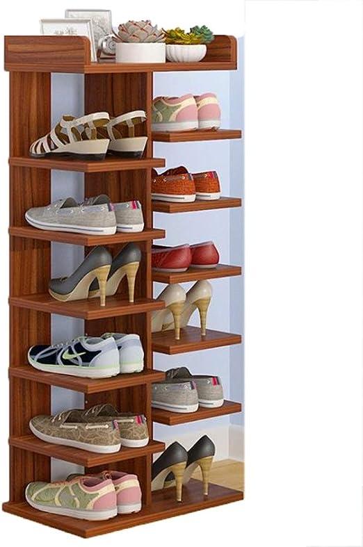 HOQTUM Estantería para Zapatos De Madera Entrada 5/6 Nivel ...
