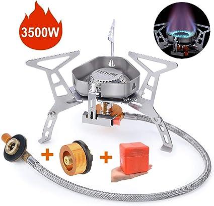 Réchaud pliable en acier inoxydable de camping pliable de brûleur à gaz de