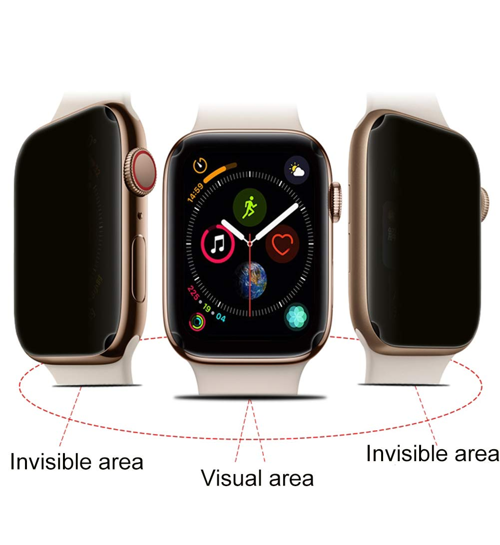 KeyJary 2 Pack Screen Protector & Privacy Filter Compatible for Apple Watch Iwatch Series 4 40MM/44MM, Anti Glare Full Coverage Hydrogel Foil,40MM by KeyJary