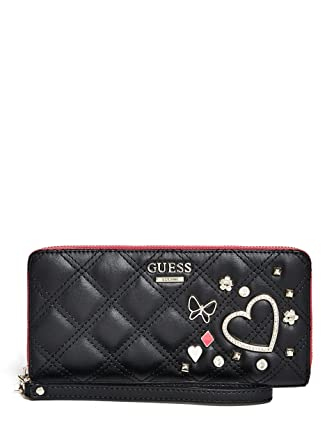 1301fbae0f GUESS Darin Large Zip Around Black  Handbags  Amazon.com