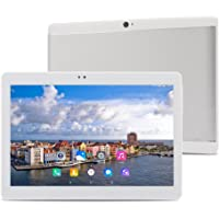 ibowin® 10.1inch telefonische MediaTek Quad Core 2G RAM 32G ROM 3g Tablet PC 1280x 800IPS 3G WCDMA 2100MHz und 2G GSM WIFI GPS Bluetooth Dual-SIM Karte (Silber)