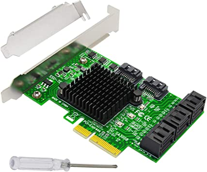 4 Ports Controller Adapter Add On PCIE To SATA3.0 Expansion Card Components