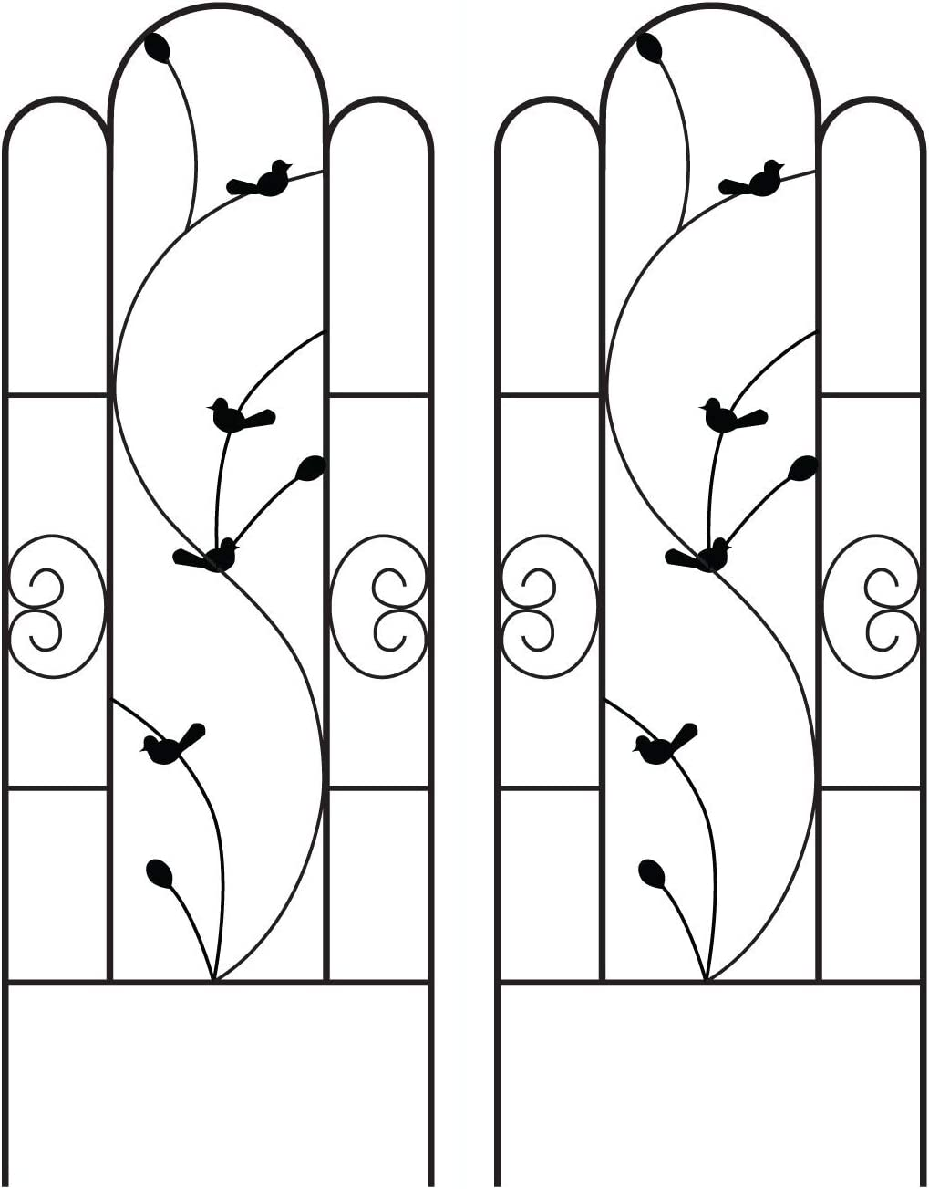 Black Metal Wire Lattice Grid Panels for Cucumber /& Vegetables Garden Trellis for Vines and Climbing Plants Durable /& Sturdy Beautiful Plant Decor Clematis Support Rose Vines
