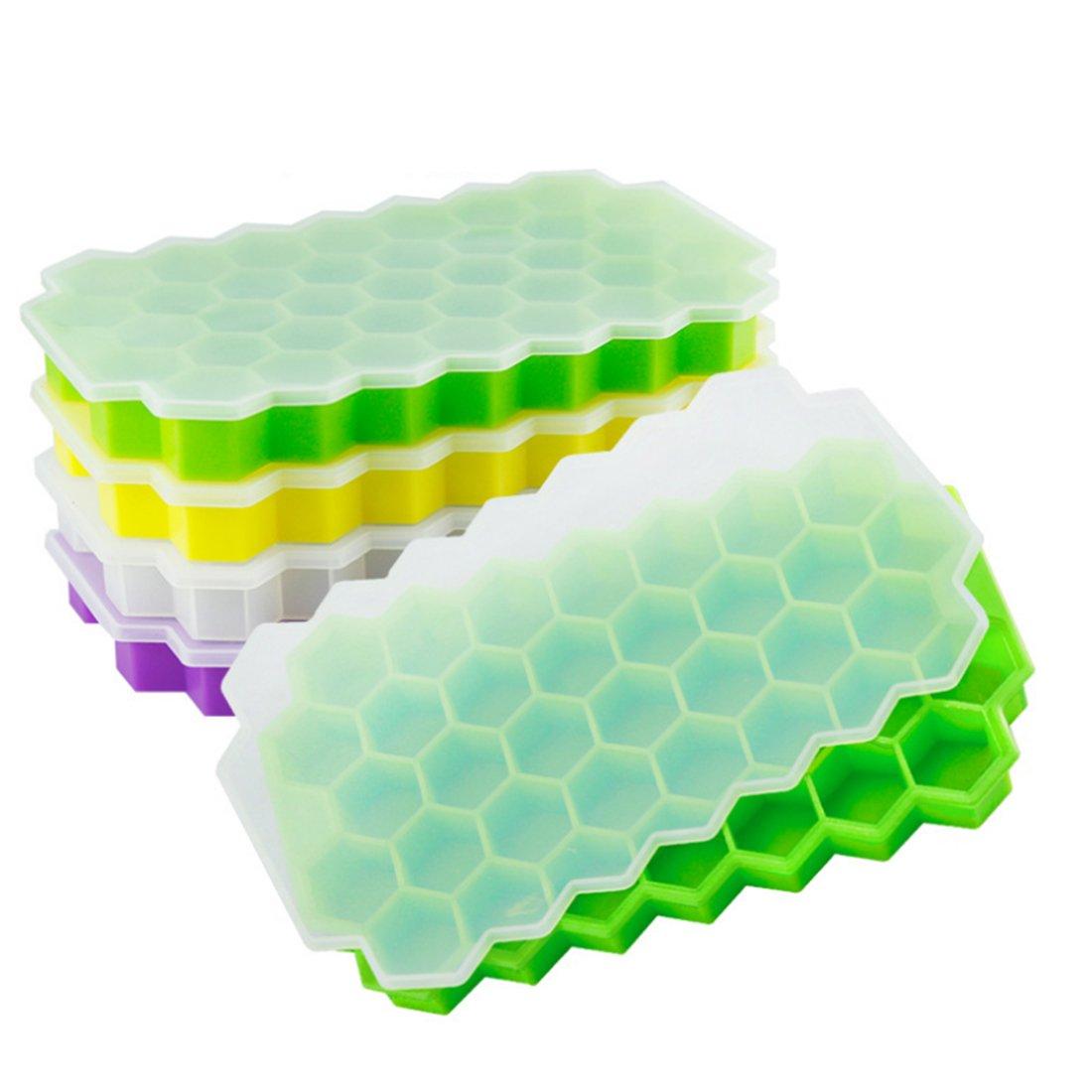 製氷皿 シリコン製 37個取り フタ付き 蜂の巣