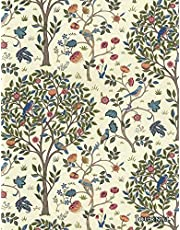 Journal: Vintage Art Nouveau Print of Birds in a Tree   150 College-ruled Pages   8.5 x 11 - A4 Size
