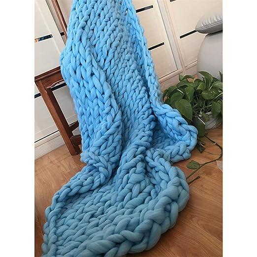 Colchon Súper grueso Líneas de tejer mantas cielo azul ...