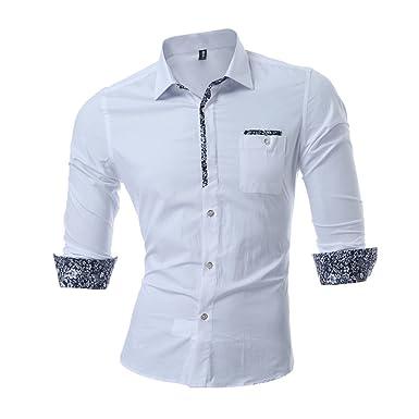 Los hombres camisas informales, camisetas impresas algodón, blanca, XXL: Amazon.es: Ropa y accesorios