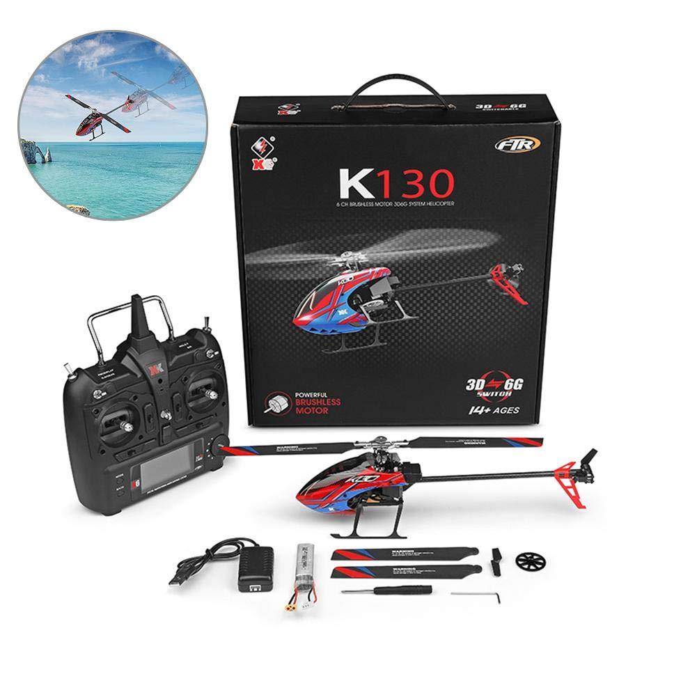 Elicottero RC elicottero per elicottero per interno RC Elicottero per elicottero RC a sei vie - Lama singola senza alettoni per bambini e adulti principianti