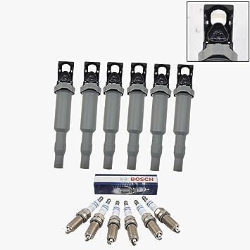 Bobina de encendido Bujía Premium + Bosch Kit para BMW E90 E60 E85 325i, 325