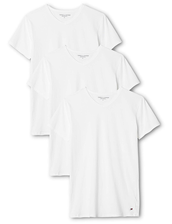 Tommy Hilfiger Lot de 3 t shirts stretch classiques à col