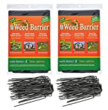 Landscape Fabric Garden Weed Barrier (4'x8') and 6 inch Staples Anchor Pins Bundle (2)