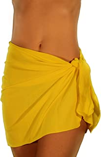 product image for Lifestyles Direct Tan Through Sarong Solid Yellow