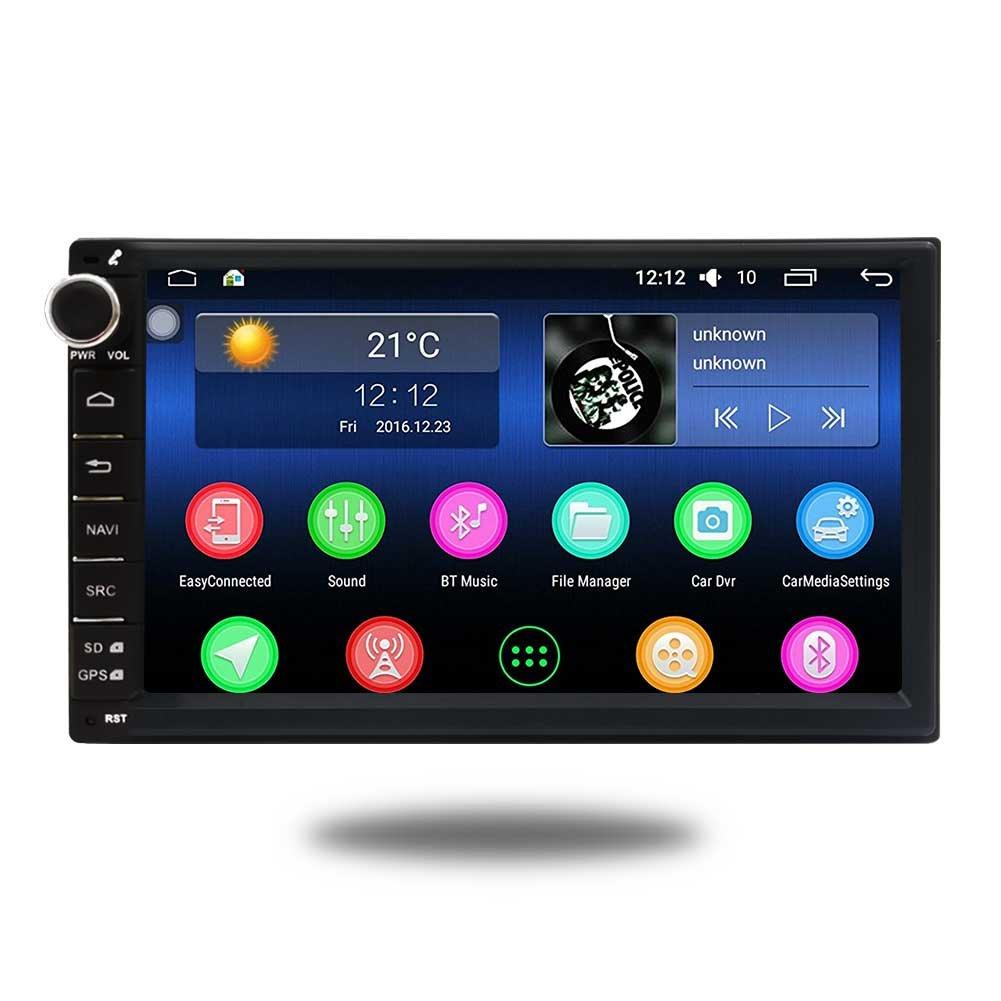 EINCAR Stereo Coche de 7 Pulgadas Android 7.1 2GB 32GB Jefe Unidad de Doble DIN Octa Core Car Audio GPS Bluetooth Ayuda AV subwoofer Espejo Enlace: ...
