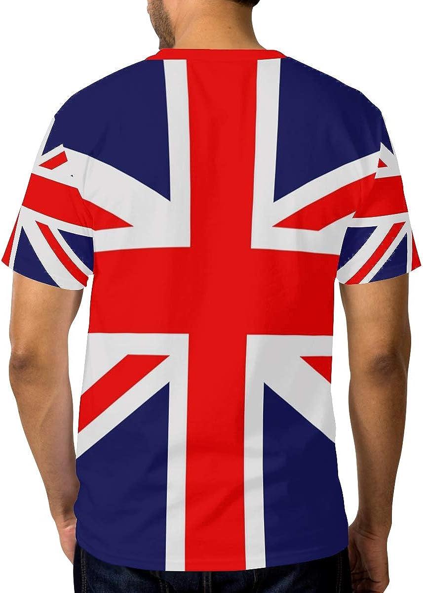 FANTAZIO - Camiseta de manga corta con diseño de bandera del Reino Unido: Amazon.es: Ropa y accesorios