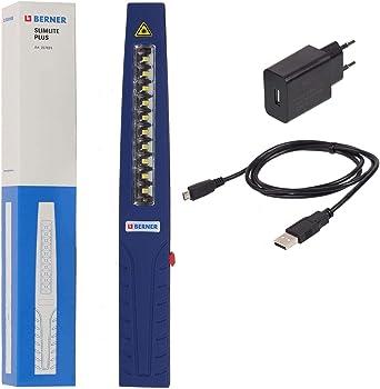 Berner Pocket Slim Plus Led Werkstattlampe Mit Usb Ladekabel 12v 230v Amazon De Beleuchtung