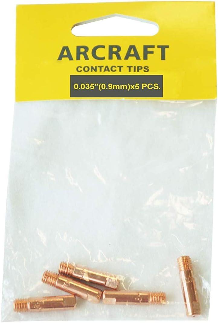ARCRAFT MIG Welding Contact Tip 0.035-in for Binzel//Harbort//Tweco//Arcraft Style MIG Guns