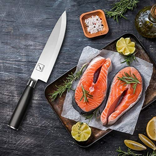 Imarku 8 Inch Pro Chef's Knife,German High Carbon Stainless Steel Kitchen Knife with Sharp Single Bevel Blade and Ergonomic Handle by iMarku (Image #3)