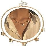 Joyiever Dainty Butterfly Necklace for Women Gold Choker Necklaces Butterfly Choker for Wife Girlfriend Friends Gifts
